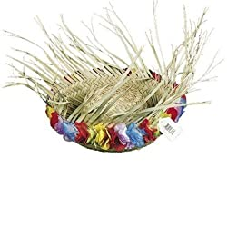 Flowered Straw Beachcomber Hat