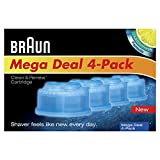 Braun Clean and Renew Cartridge Refills, 4 Count