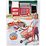 Gi-Go Deluxe Shopping Cart And Cash Register Set