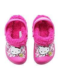 Hello Kitty Girl's Winter Warm Clog Mule Shoes