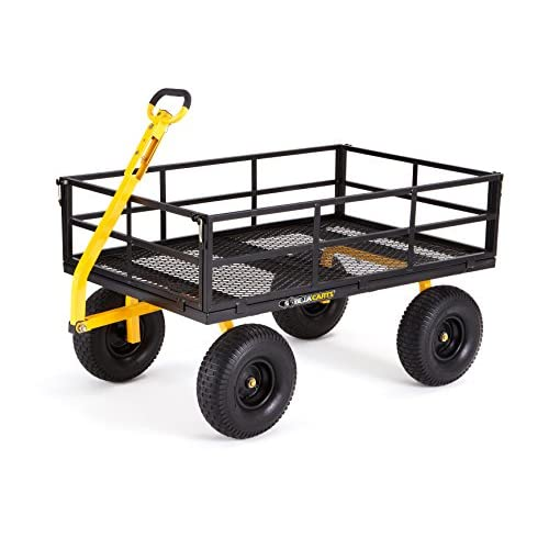 Gorilla Carts Heavy-Duty Steel Utility Cart with Removable Sides and 15