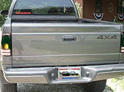 4x4 Decal - 1997-2004 Dodge Dakota (Color: Reflective Black)