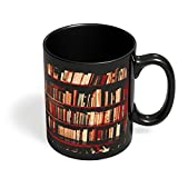 PosterGuy Bookshelves Geeky,Nerdy,Book,Booklovers,Gift For Book Lovers,Bookshelves Black Coffee Mug