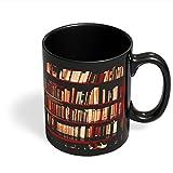 PosterGuy Bookshelves Geeky,Nerdy,Book,Booklovers,Gift For Book Lovers,Bookshelves Black Coffee Mug