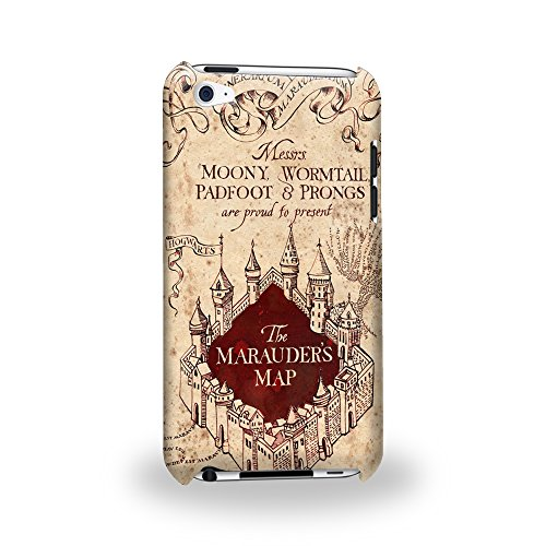 Case88 Premium Designs Harry Potter & Hogwarts Collections Marauder's Map Protective Snap-on Hard Back Case Cover for Apple iPod Touch 4