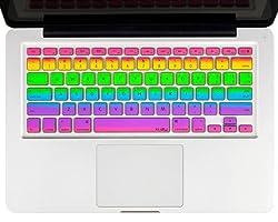 Kuzy Rainbow Keyboard Cover for 13 15 Inch Macbook Pro
