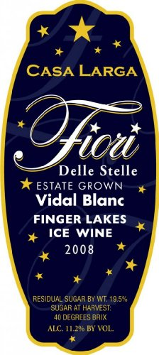 2008 Casa Larga-Fiori Delle Stelle Vidal Blanc Ice Wine 375 Ml