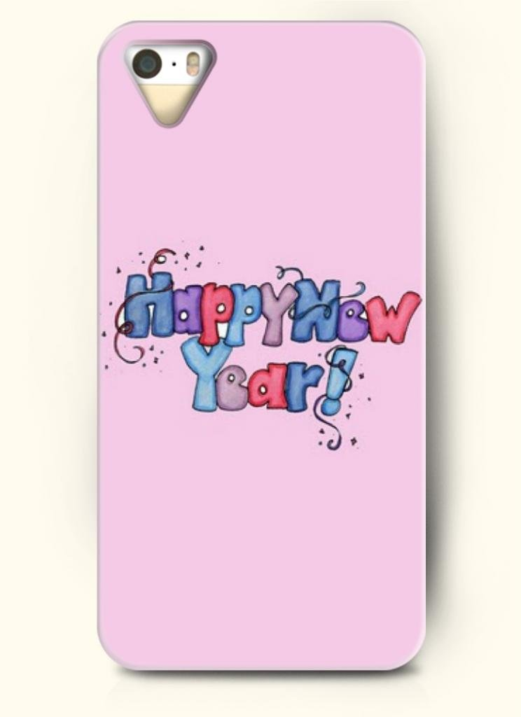 Phone Case Design with Happy New Year for Apple iPhone 5 5s