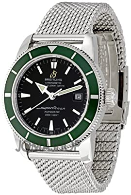 Breitling Aeromarine Superocean Heritage Green Bezel Automatic Mens Watch A1732136-BA61SS