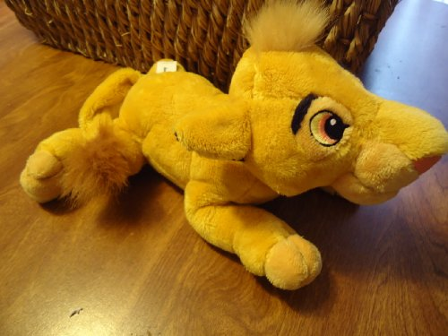 "Disney Parks Exclusive The Lion King Plush Cub Simba - bean bottom - 10"" long - 1"