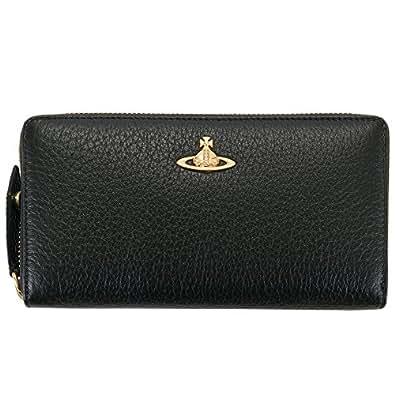 ヴィヴィアンウエストウッド Vivienne Westwood 財布 長財布 メンズ レディース ラウンドファスナー ブラック 32-906 KENSINGTON BLACK