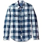 True Grit Men's Rockin Roll Indigos Buffalo Plaid Two-Pocket Vintage Shirt