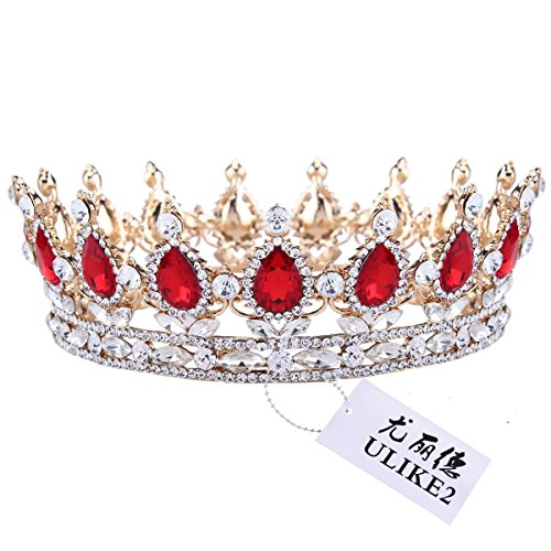 ulike2-king-queen-crown-red-ruby-stone-sapphire-tiaras-gold-silver-plated-hair-jewelry-1