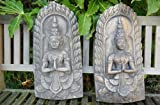 Small stone Buddha Plaque hanging wall ornate ornament