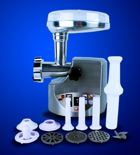 New 3000W/ 3.4HP Compact Size Stainless Steel Electric Meat Grinder with Free Sausage Stuffer Tube (Cielo Blue Meat Grinder compare prices)