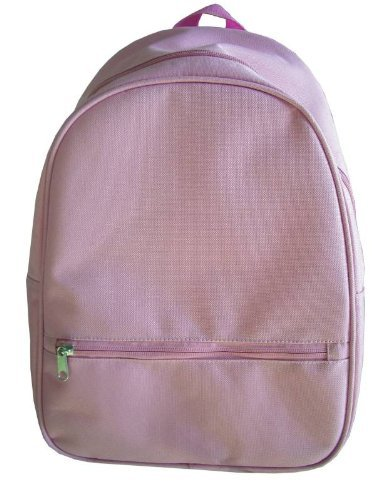 School Smart Youth Backpack with Inside Pocket and Small Front Pocket with Hidden Zipper - Pink - 1