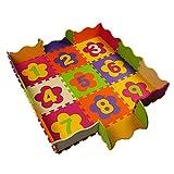 MYJP ジョイントマットシリーズ パズルマット ベビープレイマット ジグソーパズル 正方形マット 赤ちゃん 組み立て 滑り止め 収納便利 EVA 部屋用(数字)