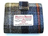 Mens / Ladies 100% Wool Camel & Blue Check Harris Tweed Fold-Over Scottish Wallet - Made in Scotland by Glen Appin