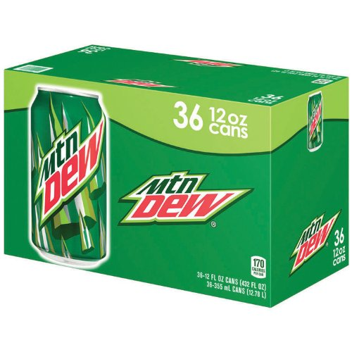 Mountain Dew - 12 oz. cans - 36 pk. (012000100499)