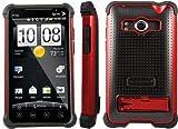 日本初上陸! Ballistic SG Series HTC EVO WiMAX Black / Red au htc EVO WiMAX ISW11HT バリスティックケース SG ブラック/レッド