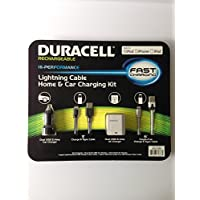 Duracell 3.1 Amp MFi Certified Lightning Cable Home & Car Charging Kit