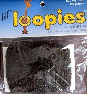 One & Only Craft LIL' LOOPIES LOOPY DOLL HAIR 1 Oz (28 Grams) DARK BROWN Color