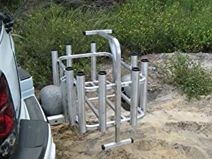 Beach Cart w Wheeleez and Receiver Arm, Made in USA!