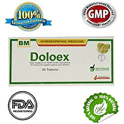 Doloex Natural Homeopathic Medicine for Migraine Headache Menstrual Cycle Back Pain and Arthritis