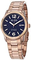 SO&CO York Men's 5011B.2 SoHo Analog Display Japanese Quartz Rose Gold Watch from SO&CO New York