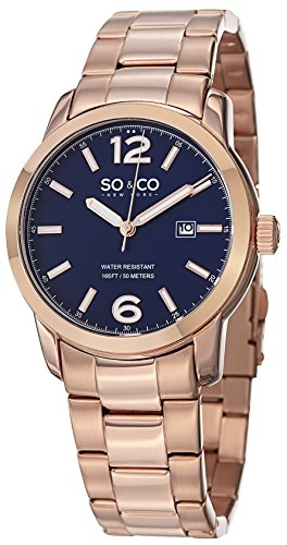 So&Co New York Men'S 5011B.2 Soho Analog Display Japanese Quartz Rose Gold Watch