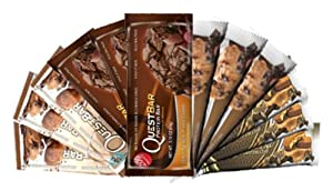Quest Variety Pack, Cravings Peanut Butter Cups, Chocolate Chip Cookie Dough, Double Chocolate Chunk and Chocolate Brownie, 12 Protein Bars