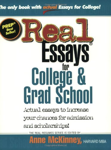 real essays for college and grad school College admissions toolbox real  prestige of undergrad for grad school does  as someone who just went through the grad school admission process and was.