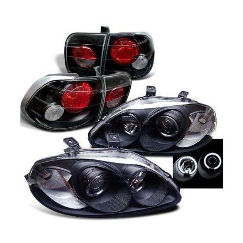 Rxmotoring 1996-2000 Honda Civic Projector Headlight + Tail Lights