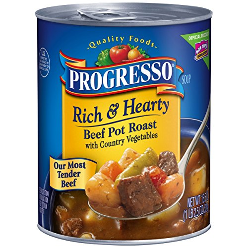 Progresso Rich & Hearty Soup, Beef Pot Roast, 18.5-Ounce Cans (Pack of 12) (Beef Pot Roast compare prices)