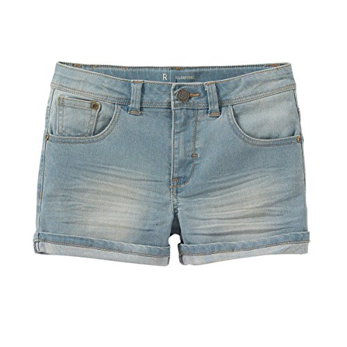R Essentiel Big Girls Cotton Denim Shorts With Turn-Ups Other Size 10 Years - 54 In.