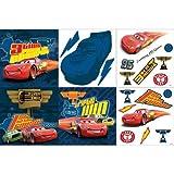 20pc 3D Disney Cars Piston Cup Sticker Accent Decor Kit