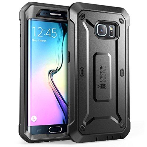 Cover per Samsung Galaxy S6 Edge (Lancio 2015), SUPCASE Unicorn Beetle PRO Series Custodia con cintura girevole fondina (Noir)