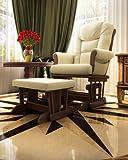 Naomi Home Deluxe Multiposition Sleigh Glider and Ottoman Set Espresso/Sand