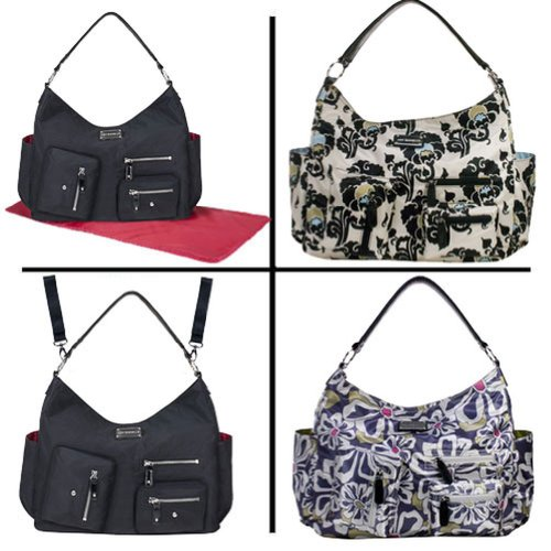 Amy Michelle Charcoal Floral Lotus Bebe Stylish Satchel Diaper Bag front-1047072
