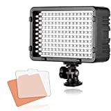 Selens 168 LED Dimmable Ultra High Power Panel Digital Camera Camcorder Video Light - LED Light for Canon - Nikon - Pentax - Panasonic - SONY - Samsung and Olympus Digital SLR Cameras