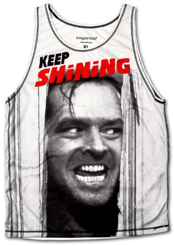 CHAQUETERO Heren Unterhemd Keep Shining Tank Top The Shining Horror Film Fan Shirt Thriller Psycho Muskelshirt Fashion Tattoo Designer - M