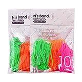 アックスコーポレーション N's Band 結束用バンド A-NB-GOP×2P 蛍光3色 ポリウレタン 2袋セット
