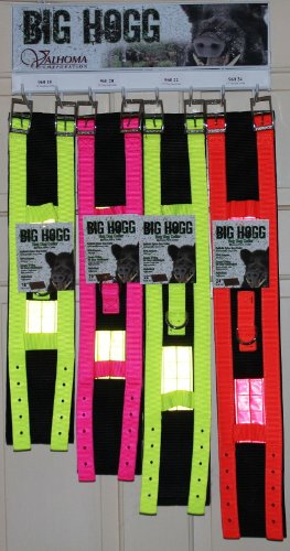 Big Hogg Hog Dog Collar Ballistic Nylon 4″ Wide 20″ Neck Valhoma OR/Pink/Yellow