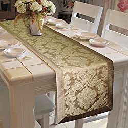 Lushomes Natural Jacquard Runner with High Quality Polyester Border