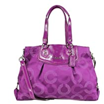Hot Sale Coach Ashley Dotted Op Art Carryall Purse Purple 20049