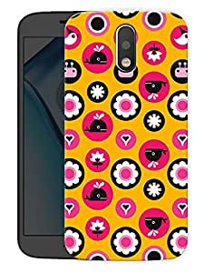 "Cute Whale Pattern Printed Designer Mobile Back Cover For ""Motorola Moto G4"" (3D, Matte, Premium Quality Snap On Case)"