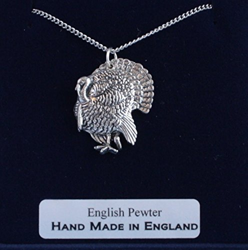 Turkey Pendant Necklace In Fine English Pewter (Gift Boxed)