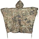 Men's US Waterproof Ripstop Hooded Nylon Festival Poncho in ACU AT Digital Camouflage