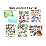 Toggle Size Story & Life Of Jesus 13 Bible Stories Set Felt Figures & Flannel Board + Noahs Ark Precut Lesson...