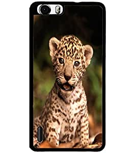 ColourCraft Cute Cub Design Back Case Cover for HUAWEI HONOR 6